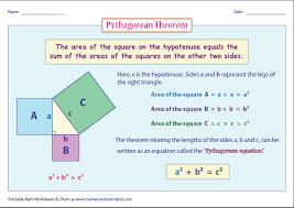 Pythagoras Theorem Chart Pythagorean Theorem Chart Pythagorean Theorem Worksheets