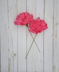 Paper Flower Bouquet Etsy Red Peony Paper Flowers Weddings Flowers Paper Flower Bouquet Bridesmaid Bouquet Bridal Shower Centerpiece Baby Shower Bridal Bouquet