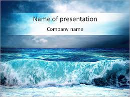 wave powerpoint templates huge waves powerpoint template backgrounds id 0000004871