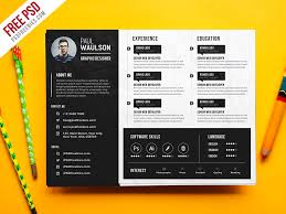Free PSD : Creative Horizontal CV Resume Template PSD by PSD Freebies -  Dribbble