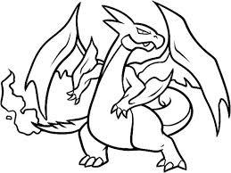 sizable mega unique pokemon mega charizard y coloring pages