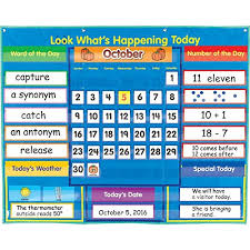 What Is Pocket Chart Really Good Stuff Look Whats Happening Today Classroom