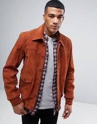 barneys premium suede 70 s style lined harrington jacket tan