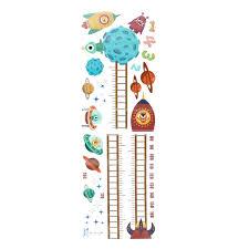 Kids Height Chart Kids Height Chart Removable Pvc Cartoon Wall Sticker Bedroom Decal Measuring