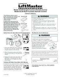 liftmaster garage door opener manual 1 2 hp