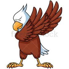 hawk clipart. Contemporary Clipart Dabbing Bald Eagle With Hawk Clipart