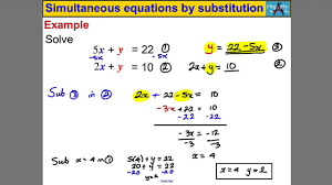 simultaneous equations by substitution