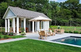 pool house. Beautiful Pool OutdoorsTrendy Pool House With Outdoor Lounge Furniture And Modern Cool  Also Beautiful Garden For
