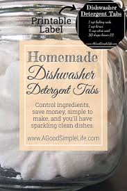 homemade dishwasher cleaner. Enjoy The Convenience Of Dishwasher Detergent Tabs And Know Ingredients That Go Into Them. Homemade Cleaner