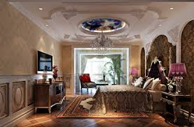 Decorations:Unique False Ceiling Design Bedroom Idea Luxury Plaster Ceilings  For Classical Bedroom Decor Idea