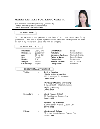 Housewife Resume Examples Educational Attainment Example In Resume Resume Samples Emilyn 12