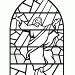 Spring Stained Glass Coloring Pages Suitable Combine Medieval