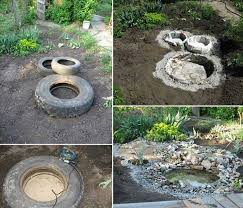 diy backyard water feature. Beautiful Water Breathtaking Tire Waterponds Can Transform Your Garden With Diy Backyard Water Feature