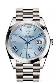 rolex 228206 day date 40 platinum ice blue dial men s watch men s watch 228206 next