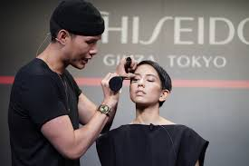 shiseido celebrates global launch of new makeup collection in tokyo