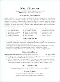 Summary Of Qualifications For Resumes Resume Qualifications Example Ellseefatih Com