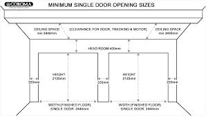 Commercial Garage Door Size Chart Sizes Of Garage Door Standard Size Garage Door S Double
