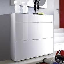 white shoe cabinet furniture. California High Gloss Shoe Cabinet In White With Grey Top Furniture B