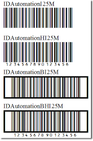 Barcode Mil Size Chart Interleaved 2 Of 5 Barcode Fonts Package