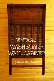 vintage washboard wall cabinet