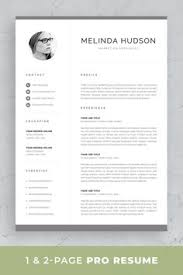 15 Best One Page Resume Template Images One Page Resume