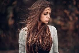 Tapety ženy Venku Model Hloubka Pole Rovné Vlasy Dlouhé Vlasy