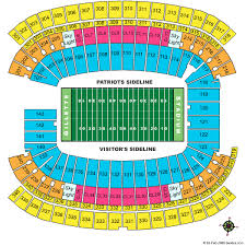 New England Patriots Seating Chart Cheap Gillette Stadium Tickets