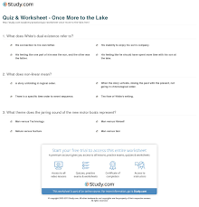 once more to the lake thesis statement co more to the lake essay