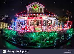 Christmas Light Installation Newport Beach Ca A Lavish Christmas Display On A House In Newport Beach Ca