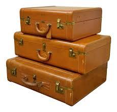 Vintage \u0026 Used Leather Luggage   Chairish