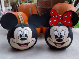 Scary Pumpkin Painting Mickey Pumpkin Painting Pumpkins Halloween Minnie Mouse