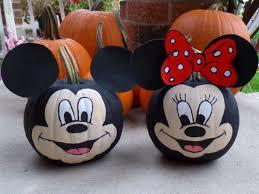 Small Pumpkin Painting Mickey Pumpkin Painting Pumpkins Halloween Minnie Mouse