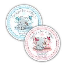 Printable baby shower emoji pictionary. Custom Cute Elephant Baby Shower Thank You Printable 2 5 Tags Persona Studio Cr8tive Idea