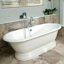 fascinating white porcelain subway tile on modern freestanding tub transitional bathroom design outstanding