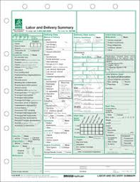 Labor And Delivery Charting Labor And Delivery Summary Form