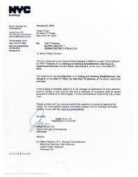 Letter Of No Objection Nyc Lno Lov Fontan Architecture