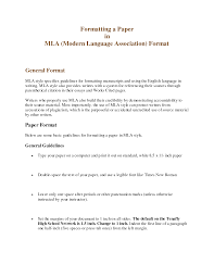 mla formatting for research essays