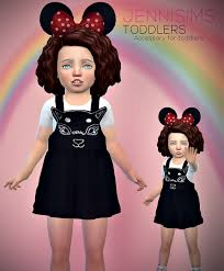 Jennisims: Downloads sims 4:Accessory Toddlers Minnie Mouse Ears | Sims 4  toddler clothes, Sims 4 children, Sims 4 toddler