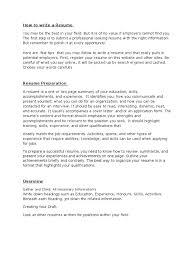 Resume Writing Resume Employment
