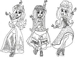 Small Picture Free Coloring Pages Of Monster High Girls Printable Monster High