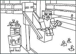 Coloring Pages For Minecraft Free Coloring Page Of To Print For