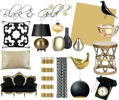 Black White And Gold Black And Gold Wall Decor Simple Iron Wall ...