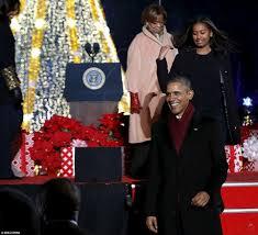 President Obama Christmas Tree Lighting Obama Lights National Christmas Tree Barack Obama Family