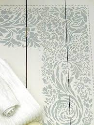 lace border and corner stencil henny