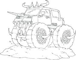 Monster Truck Coloring Pages Grave Digger New Monster Truck Monster