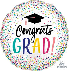 Congratulations For Graduation Graduation Congratulations Staandard Hx Dotted Foil Balloon Ana39566