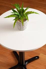 white laminate table tops circle