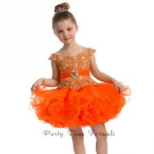 party time formals s 1t orange short beaded
