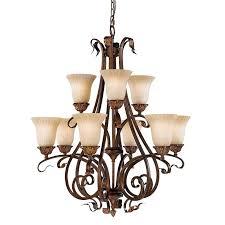 9 light chandelier art ceiling lights valley aged tortoise shell chrome bryony 9 light chandelier home depot