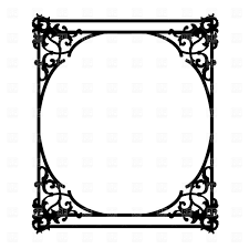 old ornate frame vector image vector ilration of borders and frames prague 1532 to zoom